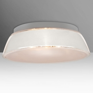 Besa 9662WHC Pica Contemporary White Sand 20  Flush Ceiling Light Fixture