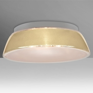 Besa 9663CRC-LED Pica Modern Creme Sand LED 17  Overhead Light Fixture
