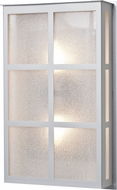 Besa BREE16-GL-LED-SL Bree Modern Silver Glitter LED Exterior Wall Lighting