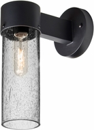 Besa JUNI10CL-WALL-BK Juni Contemporary Black Clear Bubble Outdoor 10  Lighting Sconce
