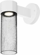 Besa JUNI10CL-WALL-LED-WH Juni Modern White Clear Bubble LED Outdoor Wall Light Fixture