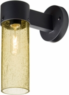Besa JUNI10GD-WALL-BK Juni Contemporary Black Gold Bubble Outdoor 10  Wall Sconce Lighting