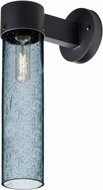 Besa JUNI16BL-WALL-BK Juni Contemporary Black Blue Bubble Outdoor 16  Wall Light Sconce
