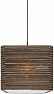 Besa Lighting 1JT-KIRK12-LED-BR Kirk Contemporary Bronze LED Pendant Lighting