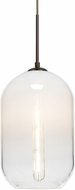 Besa Lighting 1JT-OMEGA12WH-EDIL-BR Omega Contemporary Bronze Mini Hanging Lamp