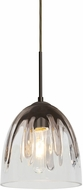 Besa Lighting 1JT-PHAN6SC-BR Phantom Contemporary Bronze Mini Pendant Light Fixture