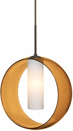 Besa Lighting 1JT-PLATOAM-LED-BR Plato Contemporary Bronze LED Hanging Pendant Lighting