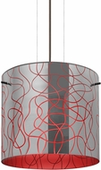 Besa Lighting 1KG-LITH12RD-LED-BR Lithium Modern Bronze LED Ceiling Pendant Light