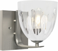 Besa Lighting 1WC-PHAN6WH-SN Phantom Contemporary Satin Nickel Sconce Lighting