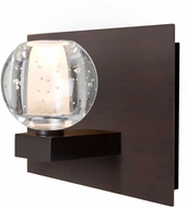 Besa Lighting 1WF-BOCABB-LED-BR Boca Modern Bronze LED Light Sconce