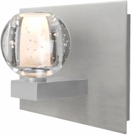 Besa Lighting 1WF-BOCABB-LED-SN Boca Contemporary Satin Nickel LED Lighting Sconce