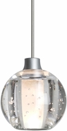 Besa Lighting 1XT-BOCA5BB-LED-SN Boca Modern Satin Nickel LED Mini Lighting Pendant