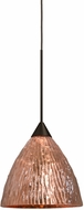 Besa Lighting 1XT-EVECS-LED-BR Eve Contemporary Bronze LED Mini Pendant Lamp