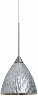 Besa Lighting 1XT-EVESS-LED-SN Eve Modern Satin Nickel LED Mini Hanging Lamp