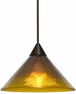 Besa Lighting 1XT-JADEAC-LED-BR Jade Contemporary Bronze LED Mini Hanging Light