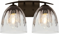 Besa Lighting 2WC-PHAN6SC-BR Phantom Modern Bronze 2-Light Bathroom Lighting