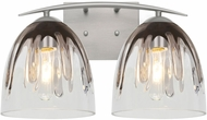 Besa Lighting 2WC-PHAN6SC-SN Phantom Contemporary Satin Nickel 2-Light Lighting For Bathroom