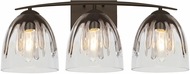 Besa Lighting 3WC-PHAN6SC-BR Phantom Modern Bronze 3-Light Vanity Light