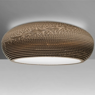 Besa Lighting VENUSC-LED-BR Venus Contemporary Bronze LED Flush Mount Lighting Fixture