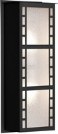 Besa NAPOLI16-GL-LED-BK Napoli Modern Black Glitter LED Outdoor Sconce Lighting