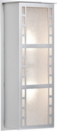 Besa NAPOLI16-GL-LED-SL Napoli Contemporary Silver Glitter LED Exterior Light Sconce