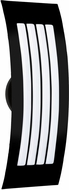 Besa SAIL17SW-BK Sail Modern Black Satin White Outdoor Lighting Wall Sconce