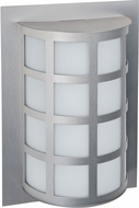 Besa SCALA13-SW-SL Scala Modern Silver Satin White Outdoor Wall Light Sconce