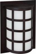Besa SCALA13-WA-BK Scala Contemporary Black White Acrylic Exterior Wall Sconce Light