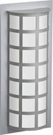 Besa SCALA20-SW-SL Scala Modern Silver Satin White Outdoor Lamp Sconce