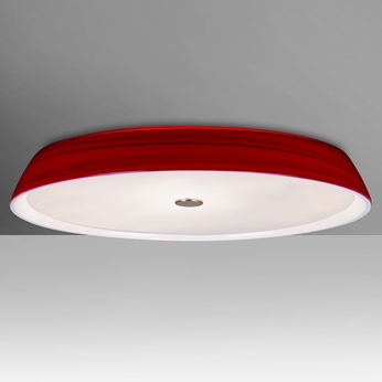 Besa SOPHI14RDC Sophi Contemporary Red Halogen 14 Nbsp Flush Mount Ceiling  Light FixtureBesa SOPHI14RDC Sophi Contemporary Red Halogen 14 Flush Mount