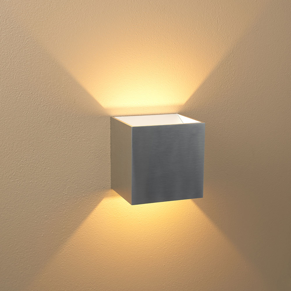 Luminance ADL Lumin Bright Satin Nickel Indoor LED Wall Sconce .