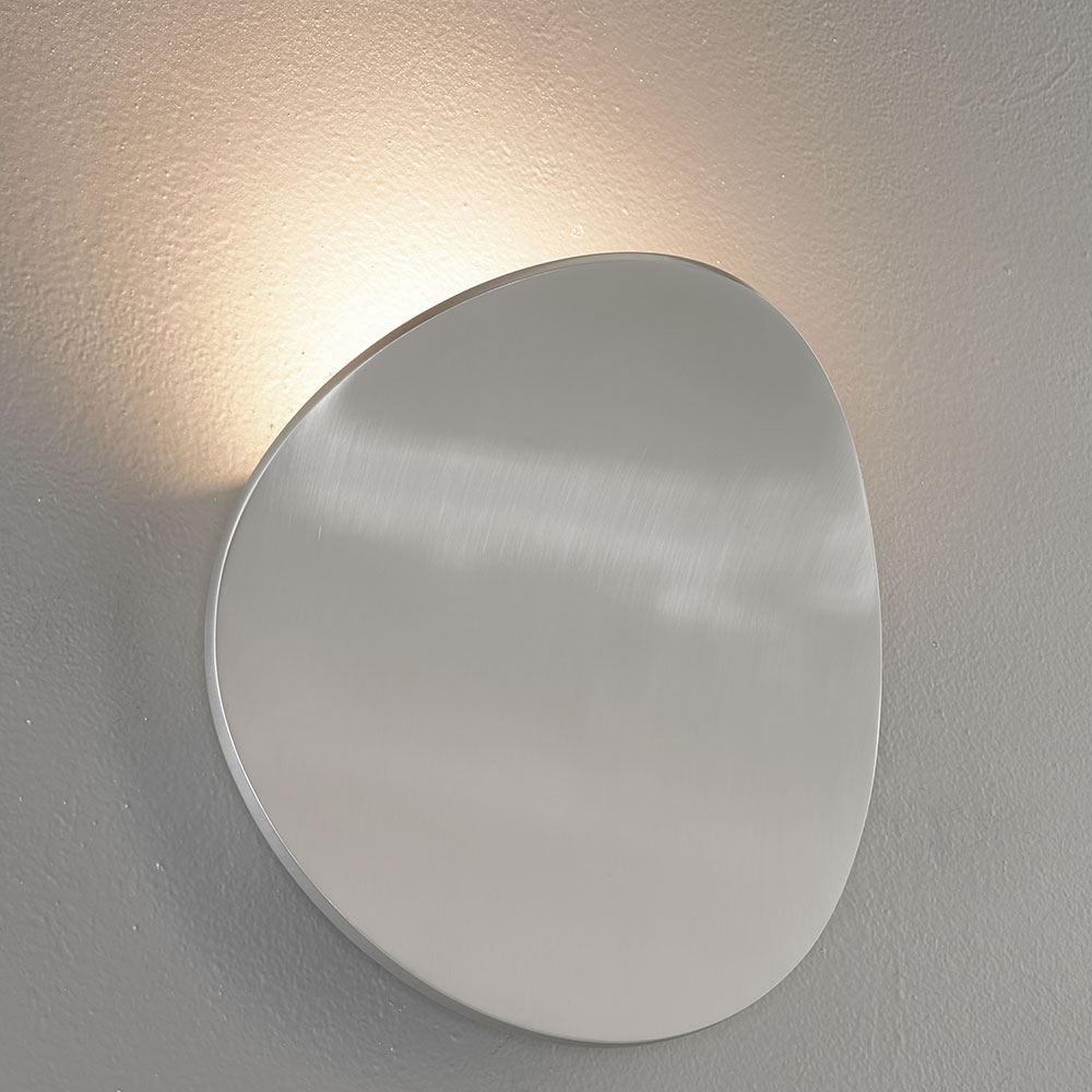 Bruck 103060AL Lunaro Contemporary Brushed Chrome LED Wall Sconce - BRU-103060AL