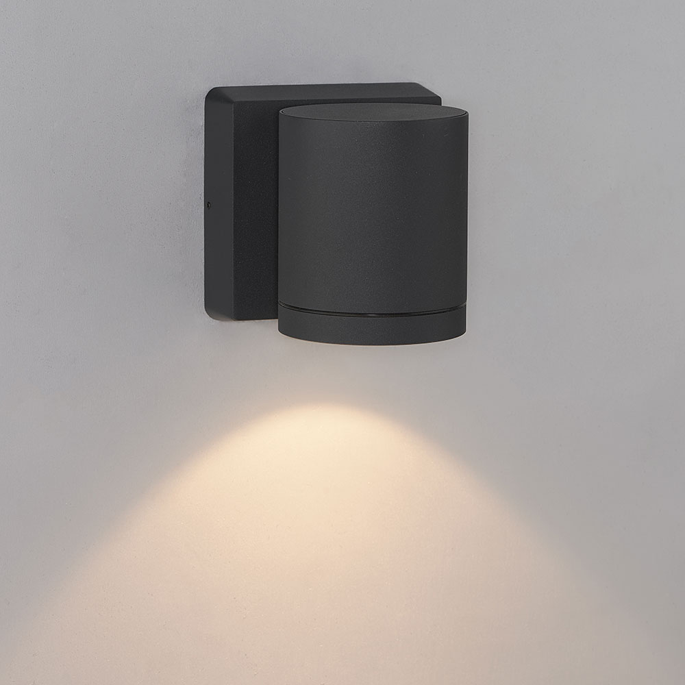 Bruck 105010bk Cylinder Contemporary Black Led Outdoor