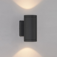 Bruck 105015BK Cylinder Modern Black LED Exterior Wall Lighting Fixture
