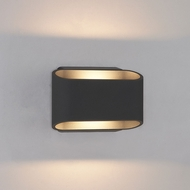 Bruck 105050BK Eclipse Contemporary Black LED Outdoor Wall Sconce