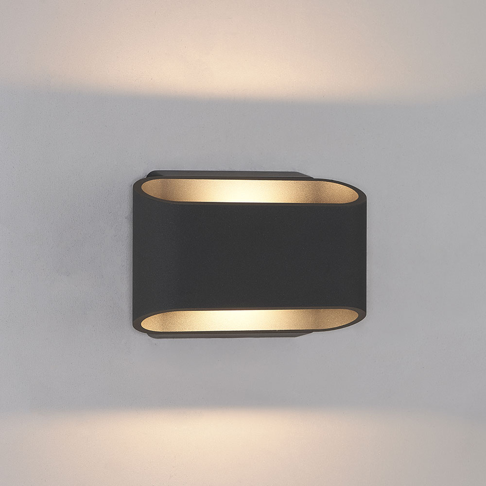 Bruck 105050BK Eclipse Contemporary Black LED Outdoor Wall Sconce - BRU-105050BK