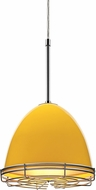 Bruck 110906-WIRE Classic Contemporary Canary Yellow Line Voltage Mini Pendant Lighting Fixture