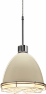 Bruck 113900-WIRE Classic Modern Ivory LED Line Voltage Mini Hanging Pendant Lighting