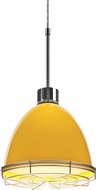 Bruck 113906-WIRE Classic Modern Canary Yellow LED Line Voltage Mini Ceiling Light Pendant