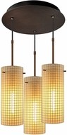 Bruck 240010BZ-3-ELV-110114BZ Sierra Contemporary Bronze / Amber Multi Pendant Lighting
