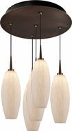 Bruck 240010BZ-5-ELV-223119BZ Ciro Modern Bronze / White LED Multi Hanging Pendant Light