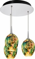 Bruck 240010CH-3-ELV-223339CH Bolero Contemporary Chrome / Typhoon LED Multi Lighting Pendant