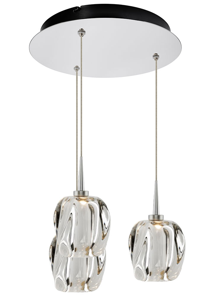 bruck 240010ch  clear led multi drop ceiling light