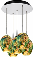 Bruck 240010CH-5-ELV-223339CH Bolero Modern Chrome / Typhoon LED Multi Pendant Lamp