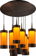 Bruck 240011BZ-11-ELV-223711BZ Silva Modern Bronze / Orange LED Multi Drop Lighting Fixture