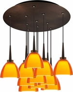 Bruck 240011BZ-11-ELV-223721BZ Rainbow Modern Bronze / Orange LED Multi Ceiling Pendant Light