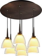Bruck 240011BZ-7-ELV-223722BZ Rainbow Contemporary Bronze / Smoky LED Multi Pendant Lighting