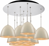 Bruck 240011CH-11-ELV-110900CH Classic Modern Chrome / Ivory Multi Hanging Light
