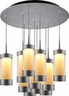 Bruck 240011MC-11-ELV-223713MC Silva Modern Matte Chrome / Smoky LED Multi Pendant Lamp