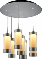Bruck 240011MC-7-ELV-223713MC Silva Contemporary Matte Chrome / Smoky LED Multi Lighting Pendant